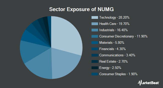 Sector Exposure of NuShares ESG Mid-Cap Growth ETF (BATS:NUMG)
