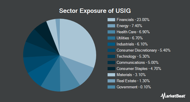 Sector Exposure of iShares Broad USD Investment Grade Corporate Bond ETF (NASDAQ:USIG)