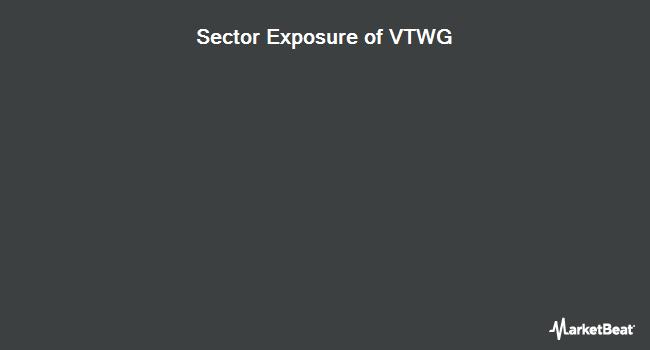 Sector Exposure of Vanguard Russell 2000 Growth (NASDAQ:VTWG)