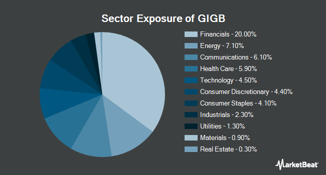Sector Exposure of Goldman Sachs Access Investment Grade Corporate Bond ETF (NYSEARCA:GIGB)