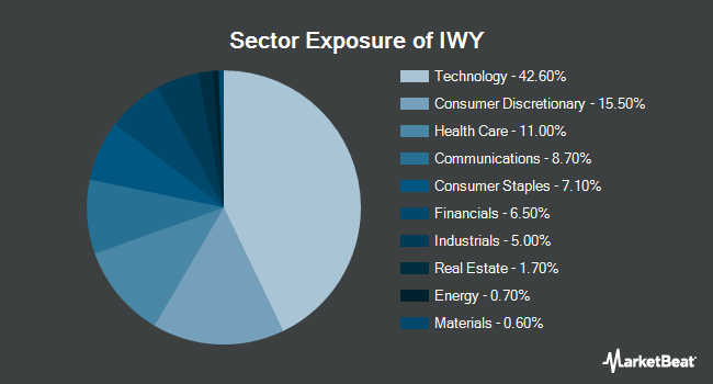 Sector Exposure of iShares Russell Top 200 Growth ETF (NYSEARCA:IWY)