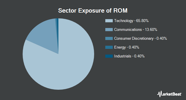 Sector Exposure of ProShares Ultra Technology (NYSEARCA:ROM)