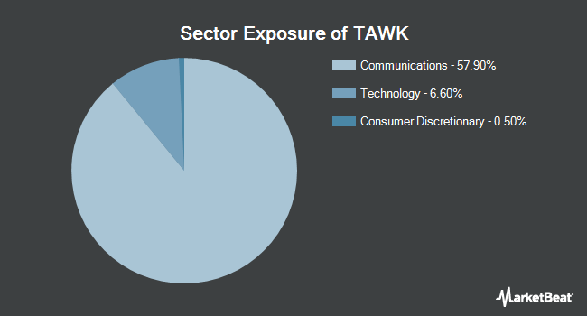 Sector Exposure of Direxion Daily Communication Services Index Bull 3X Shares (NYSEARCA:TAWK)