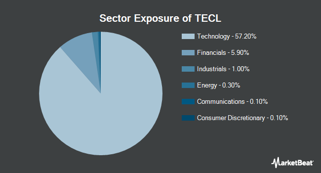 Sector Exposure of Direxion Daily Technology Bull 3X Shares (NYSEARCA:TECL)