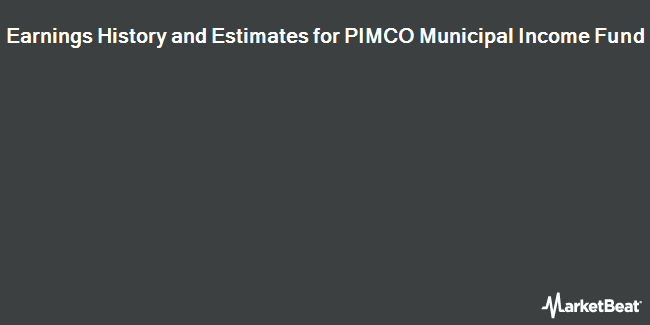 Earnings by Quarter for Pimco Municipal Income Fund (NYSE:PMF)