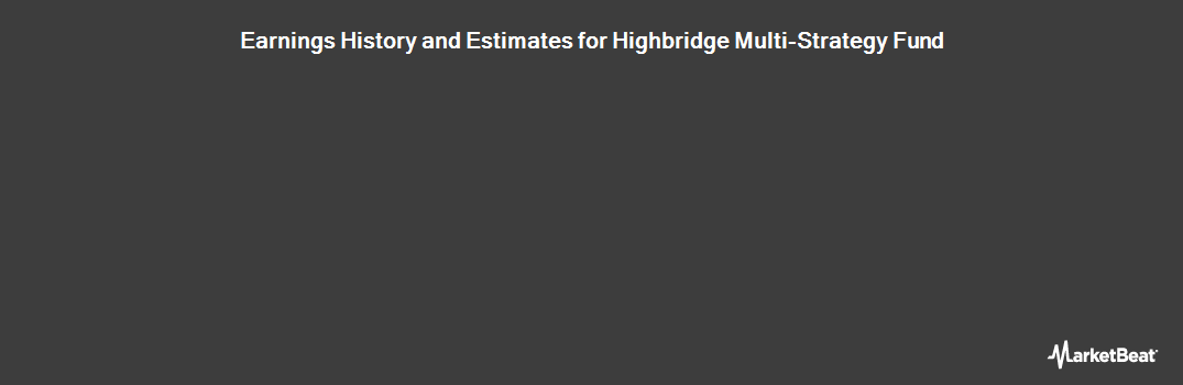 Earnings by Quarter for Highbridge Multi-Strategy Fund Ltd (LON:HMSF)
