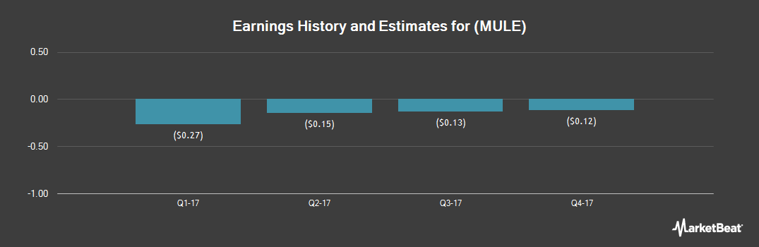 Earnings by Quarter for Mulesoft (NYSE:MULE)
