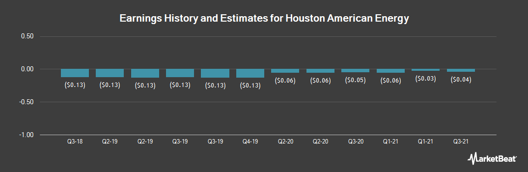 Earnings by Quarter for Houston American Energy (NYSEAMERICAN:HUSA)
