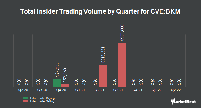 Insider Buying and Selling by Quarter for Pacific Booker Minerals (CVE:BKM)