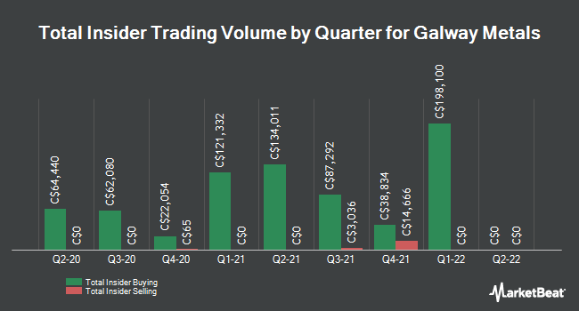 Insider Buying and Selling by Quarter for Galway Metals (CVE:GWM)