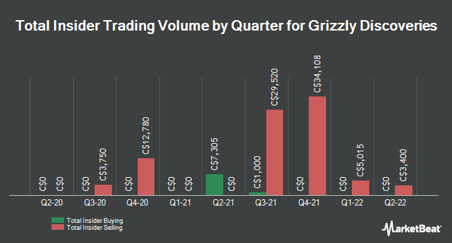Insider Trades by Quarter for Grizzly Discoveries (CVE:GZD)