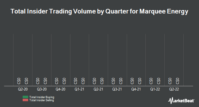 Insider Trades by Quarter for Marquee Energy Ltd (CVE:MQL)