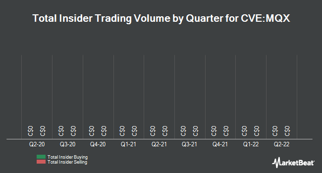 Insider Trades by Quarter for Marquee Energy (CVE:MQX)