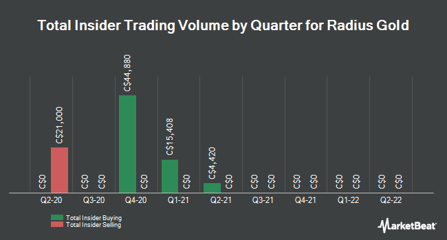 Insider Buying and Selling by Quarter for Radius Gold (CVE:RDU)