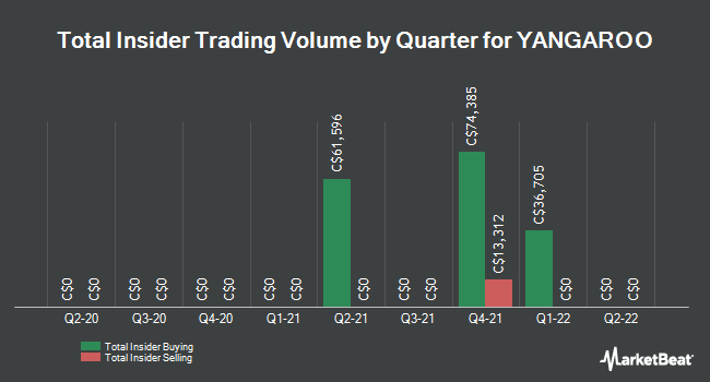 Insider Buying and Selling by Quarter for Yangaroo (CVE:YOO)