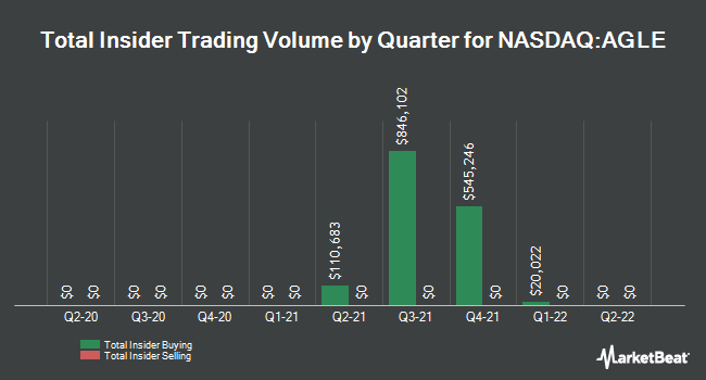 Insider Buying and Selling by Quarter for Aeglea Bio Therapeutics (NASDAQ:AGLE)