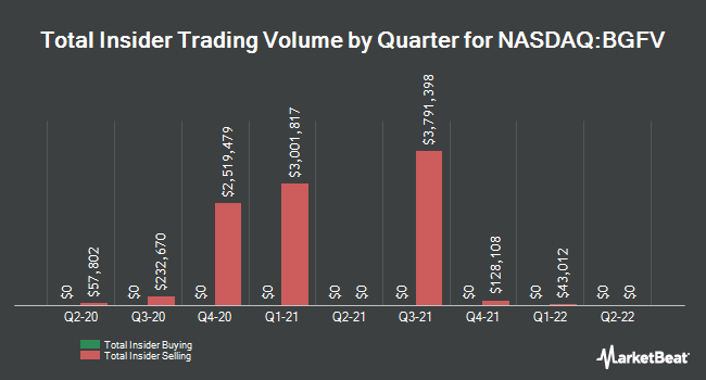 Insider Trades by Quarter for Big 5 Sporting Goods Corporation (NASDAQ:BGFV)