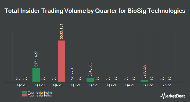 Insider Buying and Selling by Quarter for BioSig Technologies (NASDAQ:BSGM)