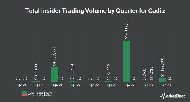 Insider Trades by Quarter for Cadiz (NASDAQ:CDZI)
