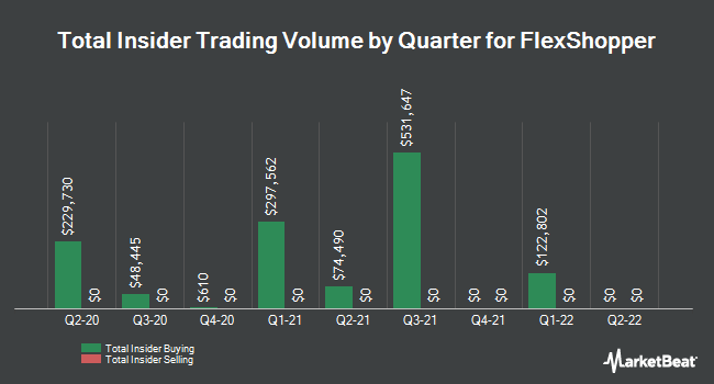 Insider Buying and Selling by Quarter for FlexShopper (NASDAQ:FPAY)