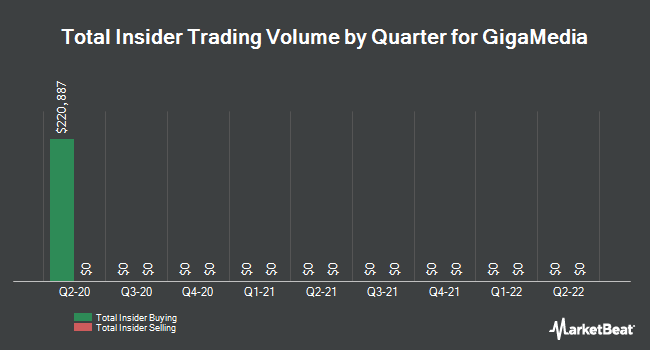 Insider Buying and Selling by Quarter for GigaMedia (NASDAQ:GIGM)