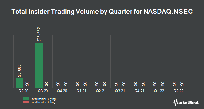 Insider Trades by Quarter for National Security Group (NASDAQ:NSEC)