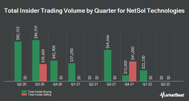 Insider Trades by Quarter for NetSol Technologies (NASDAQ:NTWK)