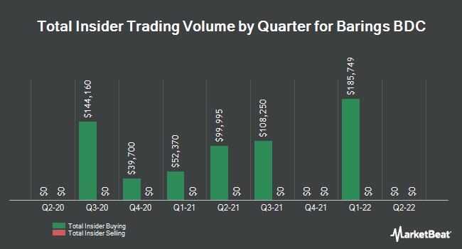 Insider Buying and Selling by Quarter for Barings BDC (NYSE:BBDC)