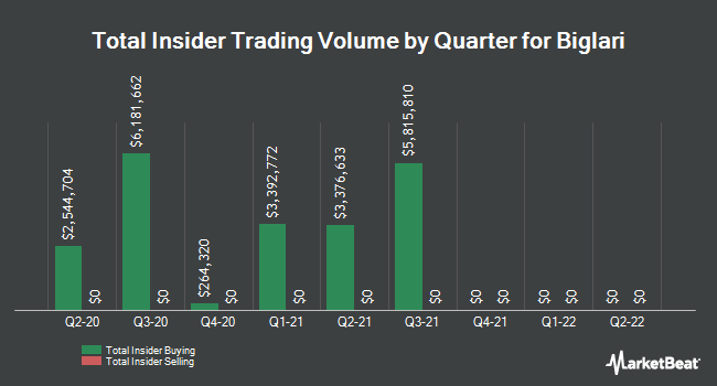 Insider Trades by Quarter for Biglari Holdings (NYSE:BH)