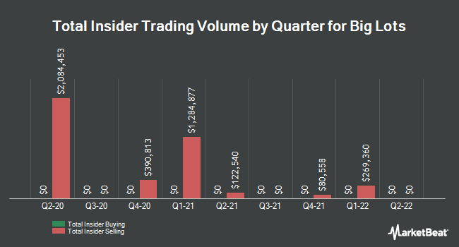 Insider Trades by Quarter for Big Lots (NYSE:BIG)