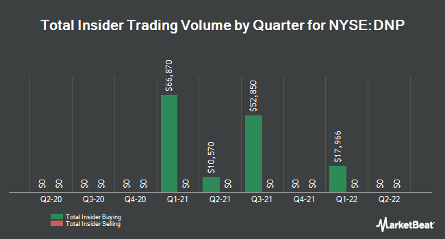 Insider Trading History for DNP Select Income Fund (NYSE:DNP)