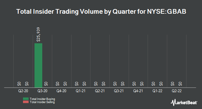 Insider Trades by Quarter for Guggenheim Taxabl Mncpl Mngd Drtn Trst (NYSE:GBAB)