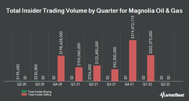 Insider Buying and Selling by Quarter for Magnolia Oil & Gas (NYSE:MGY)
