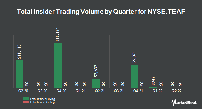 Insider Buying and Selling by Quarter for TORTOISE ESSENT/COM SH BEN INT (NYSE:TEAF)