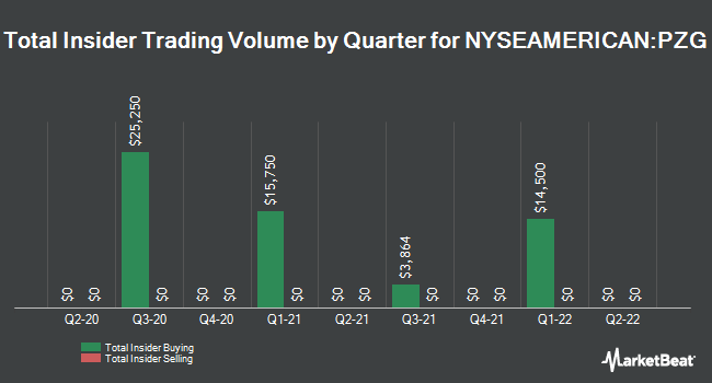 Insider Trades by Quarter for Paramount Gold Nevada Corp (NYSEAMERICAN:PZG)