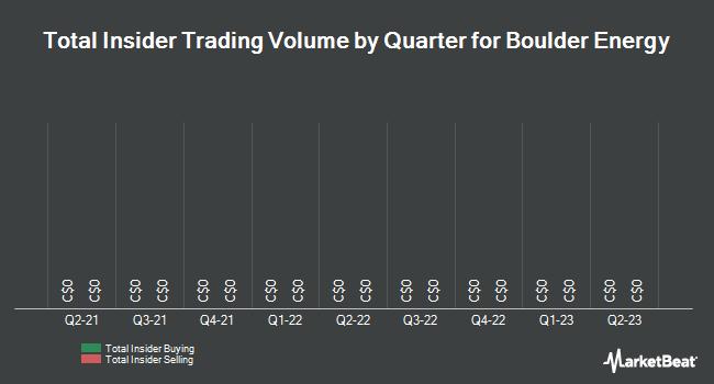 Insider Trades by Quarter for Boulder Energy (TSE:BXO)