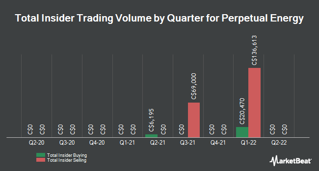 Insider Trades by Quarter for Perpetual Energy (TSE:PMT)