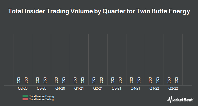 Insider Trades by Quarter for Twin Butte Energy Ltd (TSE:TBE)
