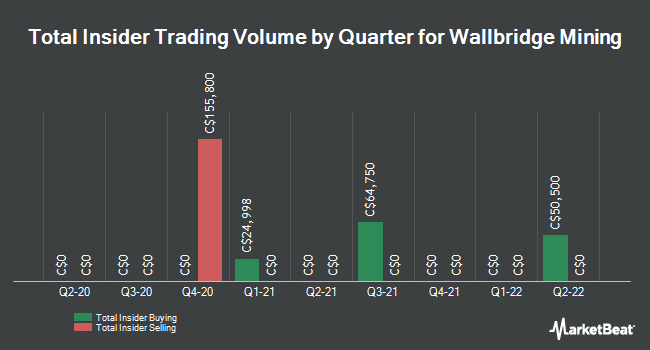 Insider Buying and Selling by Quarter for Wallbridge Mining (TSE:WM)