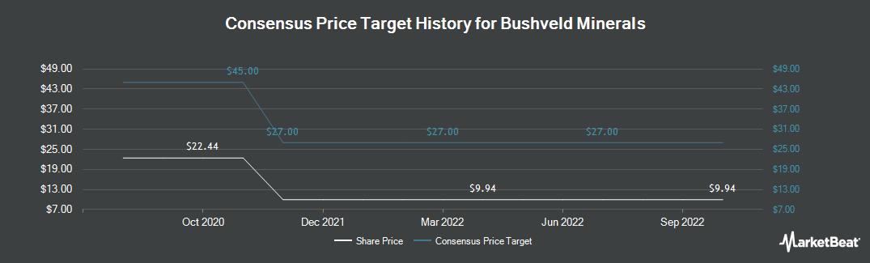 Price Target History for Bushveld Minerals (LON:BMN)