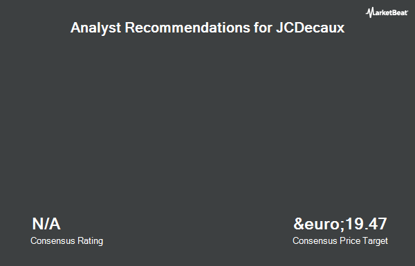 Analyst Recommendations for JCDecaux (EPA:DEC)