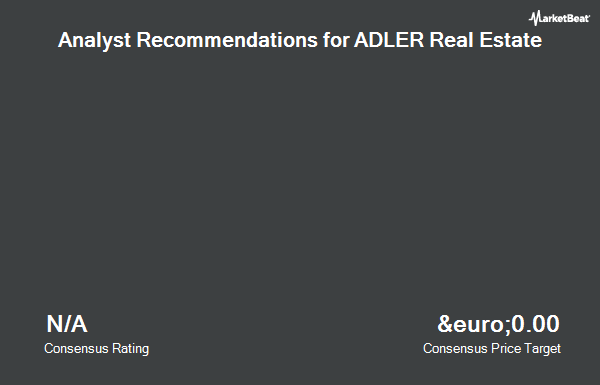 Analyst Recommendations for Adler Real Estate (ETR:ADL)