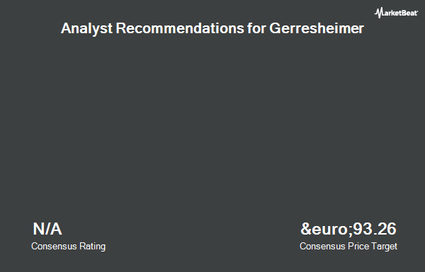 Analyst Recommendations for Gerresheimer (ETR:GXI)