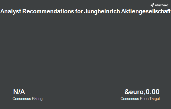 Analyst Recommendations for Jungheinrich (ETR:JUN3)