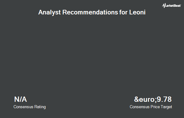 Analyst Recommendations for Leoni (ETR:LEO)
