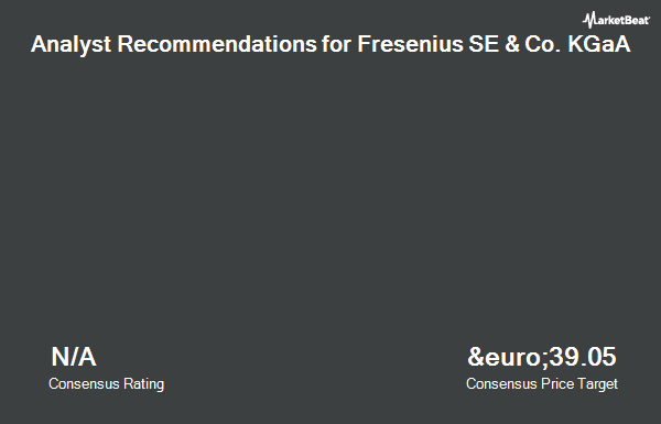 Analyst Recommendations for Fresenius SE & Co KGaA (FRA:FRE)