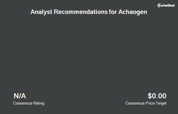 Analyst Recommendations for Achaogen (NASDAQ:AKAO)