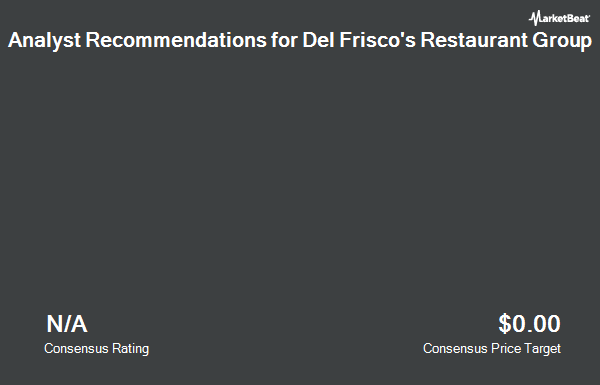Analyst Recommendations for Del Frisco`s Restaurant Group (NASDAQ:DFRG)