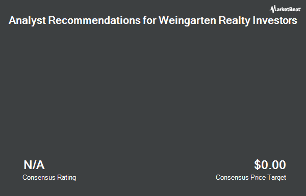 Analyst Recommendations for Weingarten Realty Investors (NYSE:WRI)