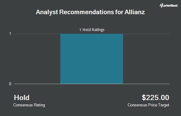 Analyst Recommendations for Allianz (OTCMKTS:AZSEY)